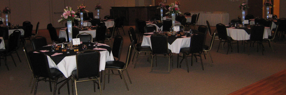 The Platinum Room can be divided in half for smaller events